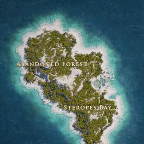 安德罗斯岛的地图