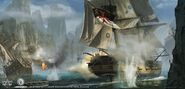 ACRogue nave battaglia forte concept art