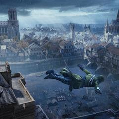 Arno Dorian sautant de l'<a href=