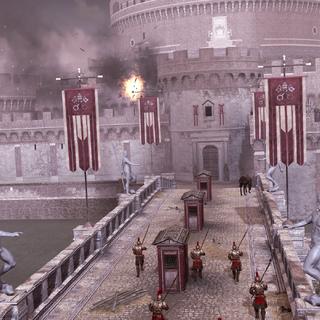 一场爆炸出现在城堡中