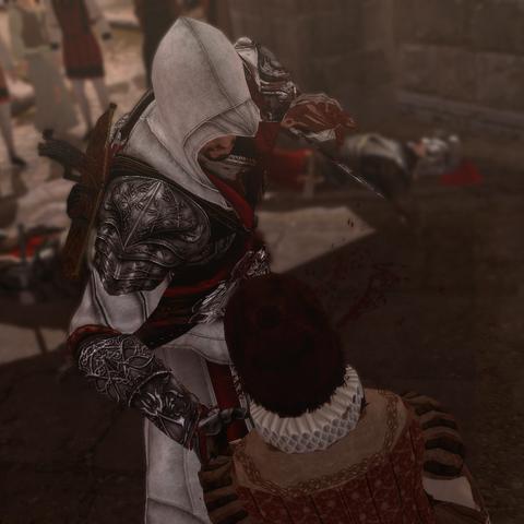 Ezio assassinant le marchand