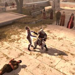 埃齐奥与杜乔打斗