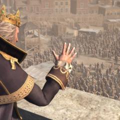 国王华盛顿向群众发表演讲