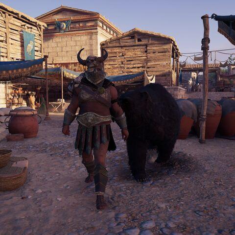 埃克齐亚斯和他豢养的熊