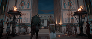 ACO Lady of Slaughter - Bayek Entering Courtyard