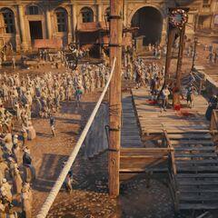 La guillotine de la Place de Grève
