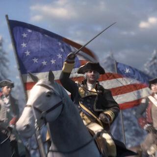 Washington führt seine Truppen an