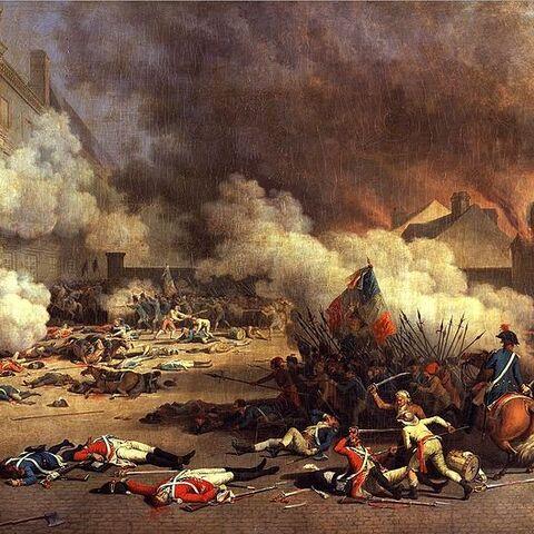 <i>La prise des Tuileries le 10 août 1792</i> par Jean-Jacques Bertaux