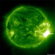 Simulated solar flare activity