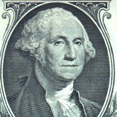 Washington auf dem 1-Dollar Schein