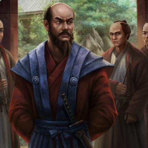 毛利元就与他的三个儿子