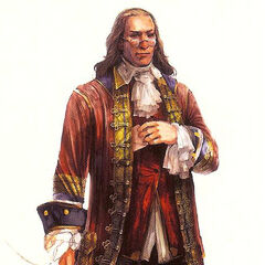 Concept art of Franklin's appearance in <i>Assassin's Creed III</i>