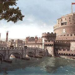 The centre of Borgia control, the Castel Sant'Angelo