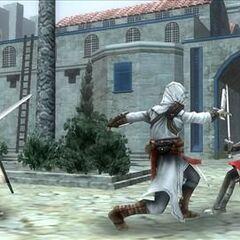 阿泰尔袭击两名卫兵