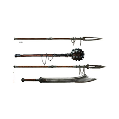 The Guardian's weapons
