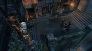 Ezio i jego uczennica obserwują Teodorosa