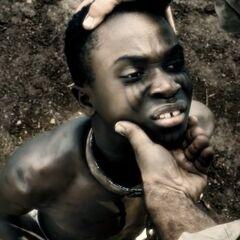 Der junge Adewale als Sklave