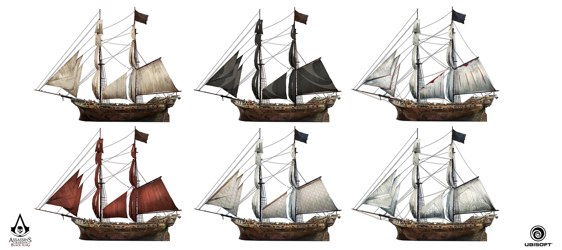 Image Ac4 Jackdaw Sail Customisation Concept Art 2 Pin Sailing Ship Diagrams On Pinterest