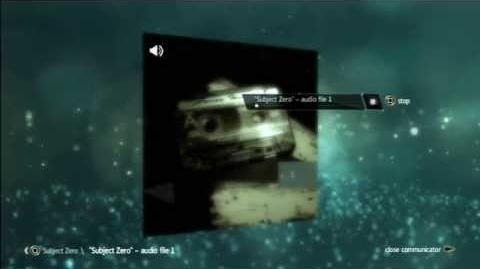 "AE files:""Subject Zero"" - audio file 1"