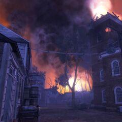 燃燒的查爾斯鎮教堂