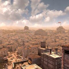 Ezio escaladant la Tour des Milices