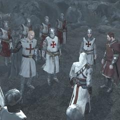 Robert et Altaïr se faisant face.