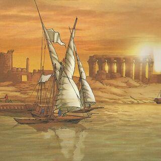 在埃及航行的船只——1341年