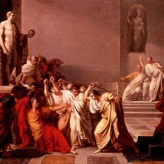 一幅描述尤利乌斯·凯撒遇刺的画
