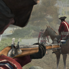 乔治 华盛顿瞄准海尔森的马