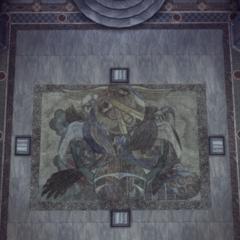 La mosaïque changeant de forme sous l'action du mécanisme
