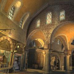 Vue intérieure d'une partie du <b>Grand Bazar</b>.