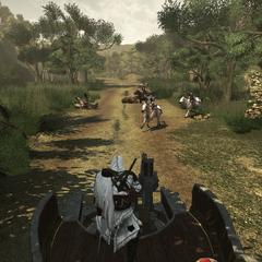 Les gardes des Borgia poursuivant Ezio