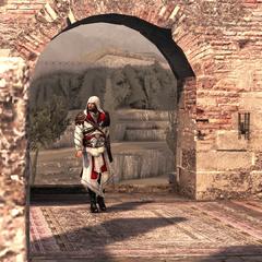 Ezio arrivant aux <a href=