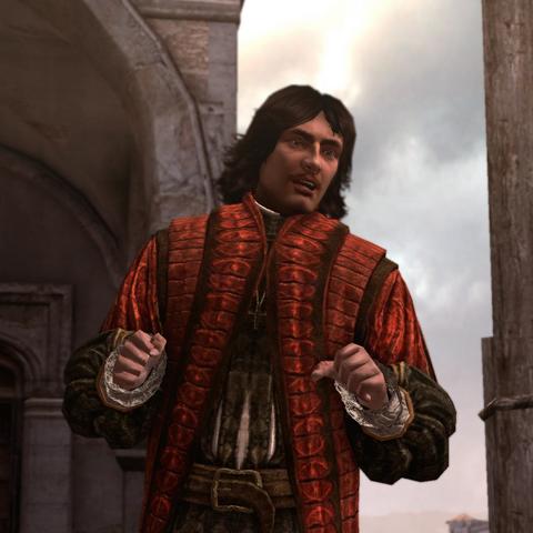 Nicolaus Copernicus geeft een toespraak.
