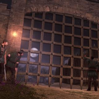 Bartolomeo et ses mercenaires aux portes de la caserne