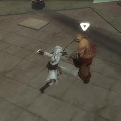 Altaïr affrontant <b>Moloch</b>