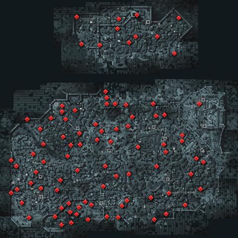 Die Standorte der Fragmente auf einer Karte
