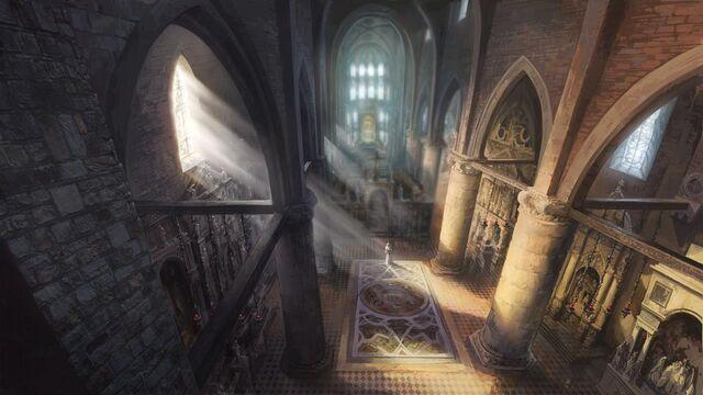 File:Inside the Basilica di Santa Maria Gloriosa dei Frari concept art.jpg