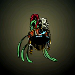 战士头巾 - 设计来给敌人留下深刻印象并使战士充满神秘动物的力量。