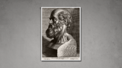 Bust of Hippokrates - Engraving by Peter Paul Rubens