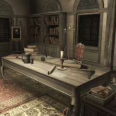 Ezio's desk