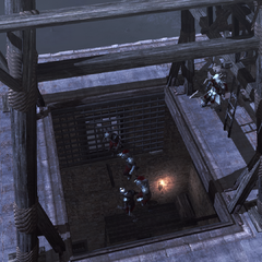埃齐奥让博吉亚警卫掉下塔楼