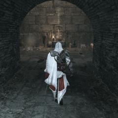 Ezio pénétrant dans le tombeau