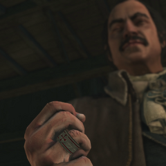 Lee wearing a Templar ring