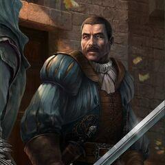 Bartolomeo et Ezio dans ses baraquements
