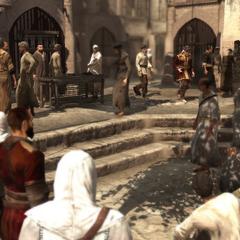 <b>Tamir</b> et son fournisseur entrant dans le souk