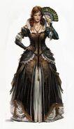 Elise de la Serre concept art abito elegante