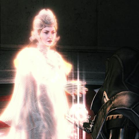 Ezio présentant la Pomme à Minerve