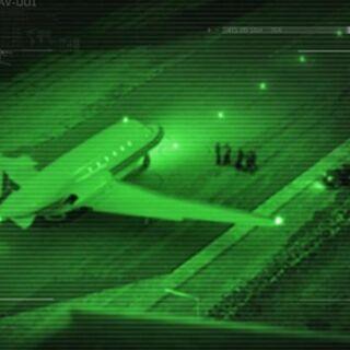 Vidéo de sécurité du hangar