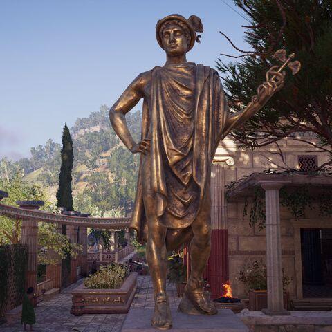 公元前五世纪的一尊赫尔墨斯像,被作为公告栏使用